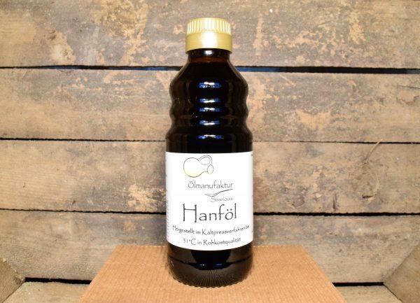 Bio-Hanföl, Rohkostqualität, kaltgepresst bei 31°C